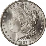 1881-CC Morgan Silver Dollar. MS-66+ (PCGS). CAC.