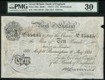 Bank of England, B.G. Catterns, £10, Birmingham 11 May 1931, prefix 130V, black and white, ornate cr