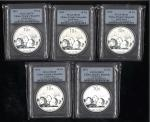 2013年熊猫纪念银币1盎司 PCGS MS 70