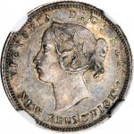 CANADA. New Brunswick. 5 Cents, 1864. Victoria. NGC AU-58.