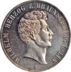 GERMANY. Brunswick-Wolfenbuttel. 2 Taler, 1856-B. Hannover Mint. Wilhelm I. PCGS MS-62 Gold Shield.