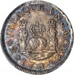 Mexico. 1739-Mo MF Real. KM-75.1, Gil-M-1-11, Yonaka-M1-39, Cal-Type 262 #1601. MS-66 (PCGS).
