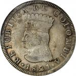 COLOMBIA. Trio of 8 Reales, 1821-JF. PCGS Certified.