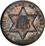 1864 Silver Three-Cent Piece. MS-64 (NGC).