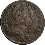 1785 Connecticut Copper. Miller 6.2-F.1, W-2395. Rarity-3. Mailed Bust Right, Goatee. EF-45 (PCGS).