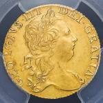 GREAT BRITAIN George III ジョージ3世(1760~1820) Guinea 1769 PCGS-AU55 -EF