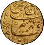 MUGHAL: Aurangzeb, 1658-1707, AV mohur, Aurangabad, AH1081 year 14, KM-315。10, bold strike, gorgeous