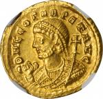 LEO I, A.D. 457-474. AV Solidus (4.39 gms), A.D. 462 or 466. Thessalonica Mint.