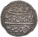 MYSORE: Tipu Sultan, 1782-1799, AR double rupee (22.55g), Nagar, AH1200 year 4, KM-107, Persian lege