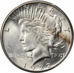 1922-S Peace Silver Dollar. MS-65+ (PCGS).