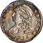 1814 Capped Bust Dime. JR-2. Rarity-3. Large Date. MS-66 (NGC).