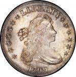 1799 Draped Bust Silver Dollar. Bowers Borckardt-164, Bolender-17. Rarity-2. Mint State-64 (PCGS).