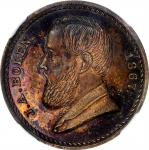1867 J.A. Bolen store card. No Obverse Signature. Copper. Musante JAB-24. MS-63RB (NGC).