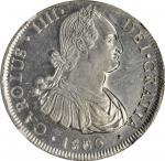 CHILE. 8 Reales, 1806-So FJ. Santiago Mint. Charles IV. NGC MS-61.