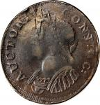 1785 Connecticut Copper. Miller 8-D, W-2455. Rarity-5+. Mailed Bust Left. Triple Struck—Partial Obve