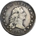 1795 Flowing Hair Silver Dollar. BB-13, B-9. Rarity-4. Two Leaves. Fine-12 (PCGS).
