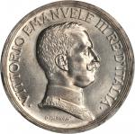 ITALY. 5 Lire, 1914-R. PCGS MS-63 Secure Holder.