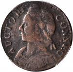 1787 Connecticut Copper. Miller 2-B, W-2755. Rarity-3. Mailed Bust Left. Fine Details--Scratch (PCGS