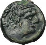 Celtic Coins, Northwest Gaul, Carnutes. AE 15 mm. c. 100-50 BC. B.N. 6077-6087. 2.71 g.