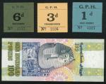 x A Small Group of World Notes, Egypt, Fiji Grand Pacific Hotel, 100 pounds blue and green on multic
