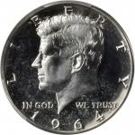1964 Kennedy Half Dollar. FS-401. Accented Hair. Proof-67 (PCGS).