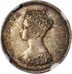 1863年香港一毫 HONG KONG. 10 Cents, 1863. Victoria. NGC MS-63.