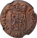 1789年荷兰东印度群岛海尔德兰1/2Duit。NETHERLANDS EAST INDIES. Gelderland. 1/2 Duit, 1789. NGC MS-63 Brown.