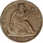 1876-S Liberty Seated Half Dollar. Type I Reverse. WB-Unlisted. Very Small S. EF-45 (PCGS).