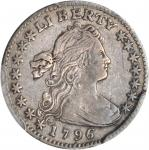 1796 Draped Bust Half Dime. LM-1. Rarity-3. LIKERTY. EF-40 (PCGS).