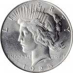 1925 Peace Silver Dollar. MS-65 (PCGS).