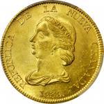 COLOMBIA.1838-RS 16 Pesos. Bogotá mint. Restrepo M211.3. MS-63+ (PCGS).