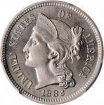 1882 Nickel Three-Cent Piece. Proof-66 (PCGS).