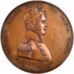 1813 Master Commandant Oliver H. Perry Medal. Bronzed Copper. 59 mm. Julian NA-21. MS-65 BN (NGC).