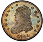 1822 Capped Bust Quarter. B-2. Rarity-8 as a Proof. 25/50 C. Proof-65 (PCGS). CAC.