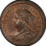 英国 (Great Britain) アン女王像 1ファージング試鋳銅貨 1714年 KM537 / Anne 1 Farthing Copper Pettern