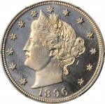 1896 Liberty Head Nickel. Proof-66 Cameo (PCGS).