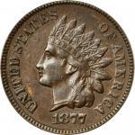 1877 Indian Cent. AU-58 (PCGS).
