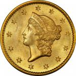 1854-S Gold Dollar. MS-65+ (PCGS). CAC.