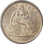 1841 Liberty Seated Half Dollar. WB-4. Rarity-3. MS-61 (PCGS).