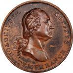 Circa 1847 Washington Temperance Society Award medal muling. Musante GW-175, Baker-356A. Copper, Bro