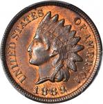 1889 Indian Cent. MS-65 RB (PCGS).