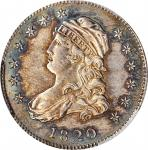 1820 Capped Bust Quarter. B-4. Rarity-2. Small 0. Unc Details--Environmental Damage (PCGS).