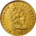 1797 Capped Bust Right Eagle. Heraldic Eagle. BD-3, Taraszka-11. Rarity-5. EF Details--Repaired (PCG
