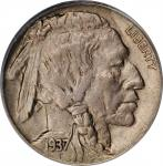 1937-D Buffalo Nickel. FS-901. 3-Legged. AU-58 (PCGS).