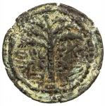 ANCIENT JUDEA: Bar Kochba Revolt, 132-135 AD, AE small bronze (4.95g), year 1 (132/3 AD), Hendin-681