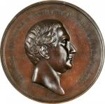 1850 Millard Fillmore Indian Peace Medal. Second Size. Julian IP-31, Prucha-48. Bronzed Copper. MS-6