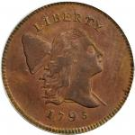 1795 Liberty Cap Half Cent. C-2a. Rarity-3. Lettered Edge, Punctuated Date. MS-62 BN (PCGS).