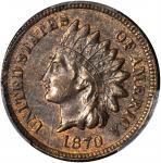 1870 Indian Cent. AU-58 BN (PCGS).