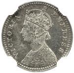 BRITISH INDIA: Victoria, Empress, 1876-1901, AR 2 annas, 1878(c), KM-488, S&W-6.354, NGC graded MS63