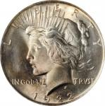 1922 Peace Silver Dollar. MS-65 (PCGS).